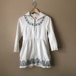 Anthro Saturday Sunday Embroidered babydoll hoodie